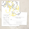 Double Floral Swirls Wedding RSVP card (10 pk)
