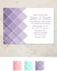 Purple Ombre Wedding Invitation