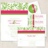 Simple Damask Wedding RSVP card (10 pk)