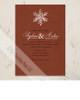 Simple Snowflake Wedding Invitation (10 pk)