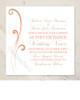 Color Blended Swirls Wedding Invitation (25pk)