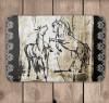 Rustic Rearing Horses Bath Mat