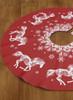 Christmas Snowflake Horse Tree Skirt