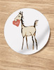 Sweet Heart Horse Foal Valentine Stickers
