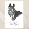 Equestrian Horse Head art Thank You Note Card