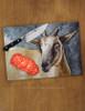 Pygmy Goat Watercolor Glass Cutting Board