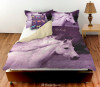Purple Horse Head Personalized Bedding Set