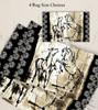 Rustic Rearing Horses Equestrian Area Rug