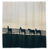 Horses at the Fence Country Equestrian Shower Curtain for the horse lover's bathroom decor