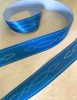 Blue Horse Bridle Pattern Equestrian Ribbon