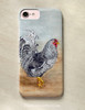 Dominique rooster artwork chicken themed iphone or samsung galaxy style cell phone case.