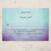 Purple and Teal Artsy Bohemian Wedding response card