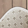 underside of equestrian bathroom floor mat