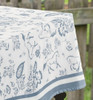 Blue country horses table cloth