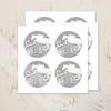 Hunter Jumper Monogram personalized stickers