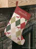 Harlequin Pattern Horse Christmas Stocking