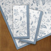Blue country floral horse napkins