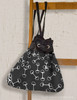 Black and White Horse Bit Pattern Sling Bag