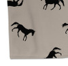 Black and Tan Galloping Horses Patterned Area Rug