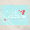 Fly Fishing themed Christmas Greeting Card