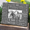 Horse Gaits Typography Equestrian Picture Frame