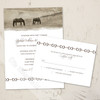 Country Horse Farm Wedding RSVP card (10 pk)