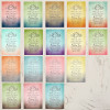 Rustic Bohemian Wedding Favor Stickers (12 count)