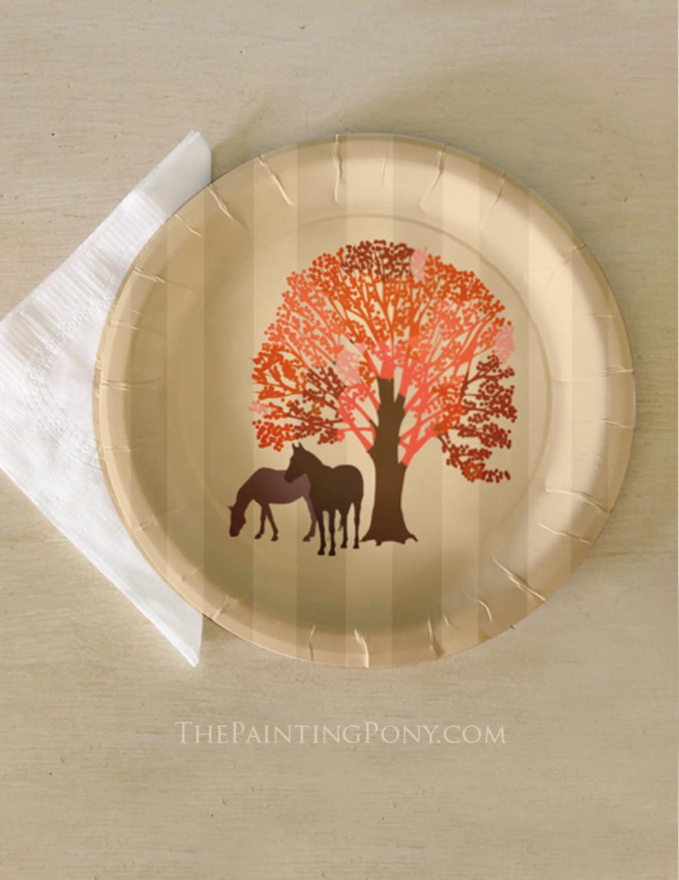 Autumn Equestrian Thanksgiving Horse Themed Paper Party Plates (8 pk) & Autumn Equestrian Thanksgiving Horse Themed Paper Party Plates (8 pk ...