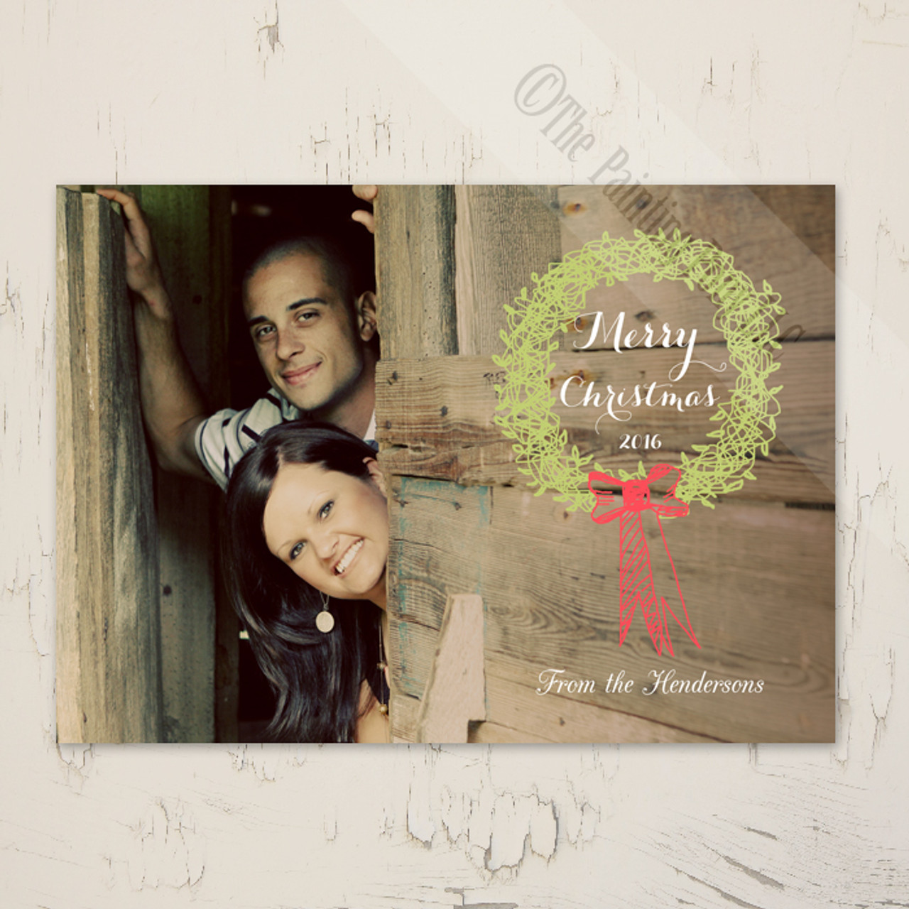 Whimsical Holiday Wreath Photo Template Greeting Cards (10 pk) - The ...