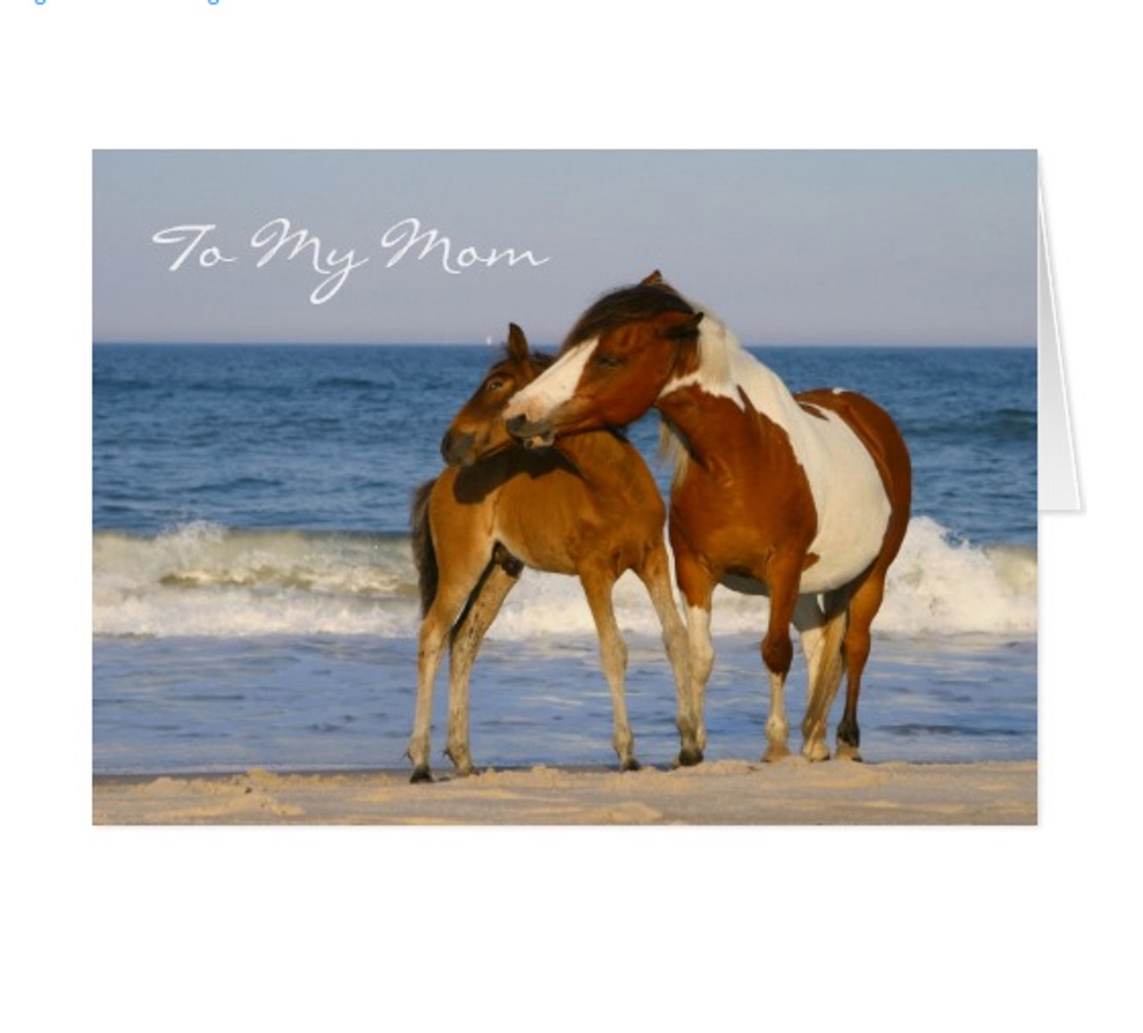 Beach horses mothers day greeting card the painting pony horse themed mothers day card m4hsunfo