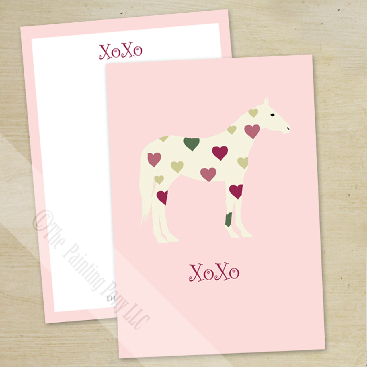 Hugs and kisses heart pony valentines day flat cards 10 pk the hugs and kisses heart pony valentines day flat cards 10 m4hsunfo