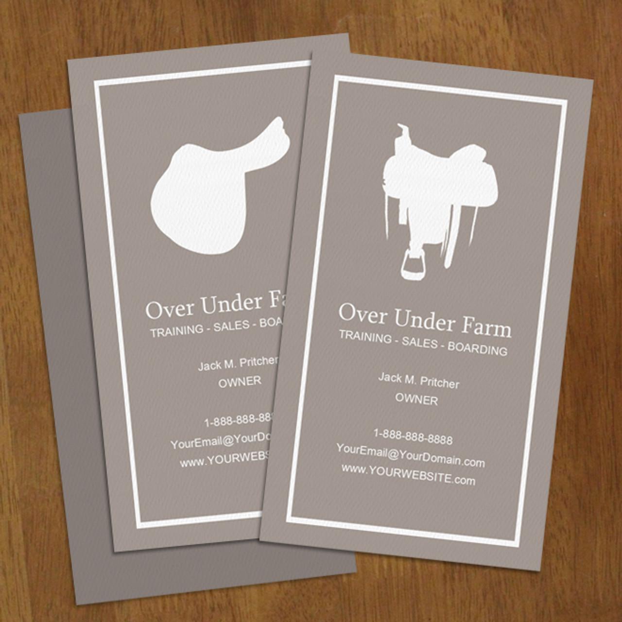 English or western saddle horse business cards 100 pk the english or western horse business card colourmoves