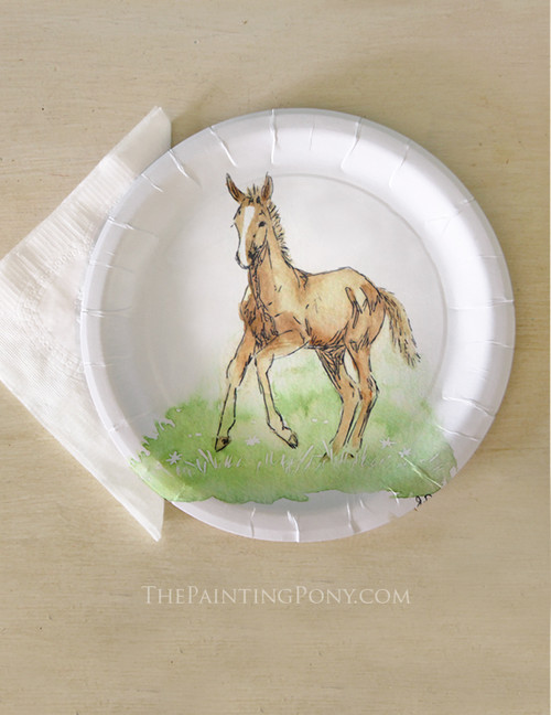 Horse Foal Baby Shower Paper Party Plates (8 pk)