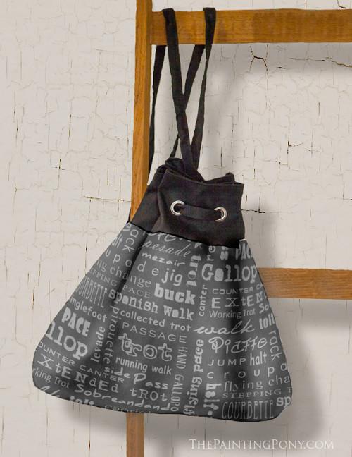 Horse Gaits Equestrian Pattern Sling Bag