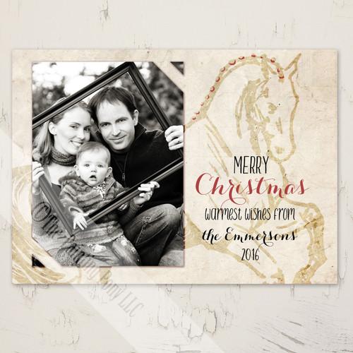 Dressage Horse Photo equestrian christmas card