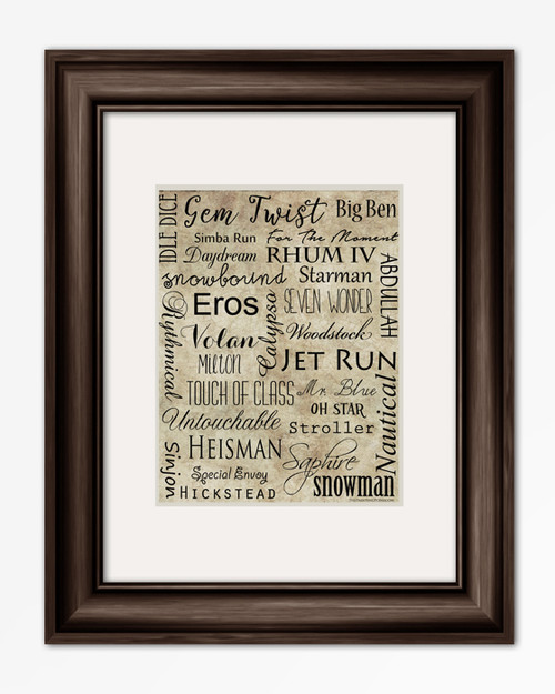 Famous Show Jumper Horses Equestrian Typography Print