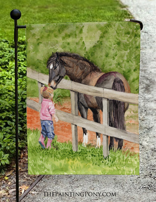 At First Sight Horse Lover Garden Flag