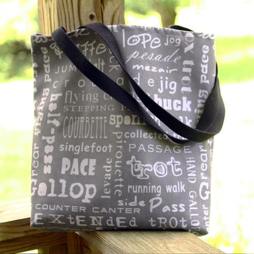 Horse Gaits Tote Bag
