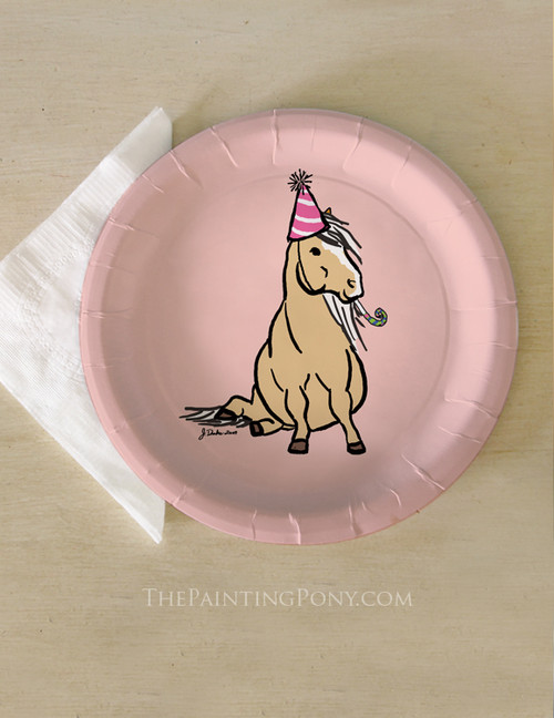 Pink Palomino Pony Birthday Party Paper Plates (8 pk)