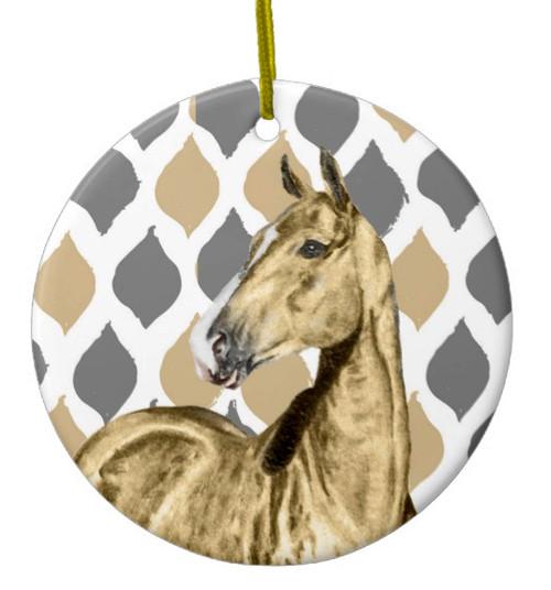 stylish buckskin horse christmas ornament - Horse Christmas Ornaments