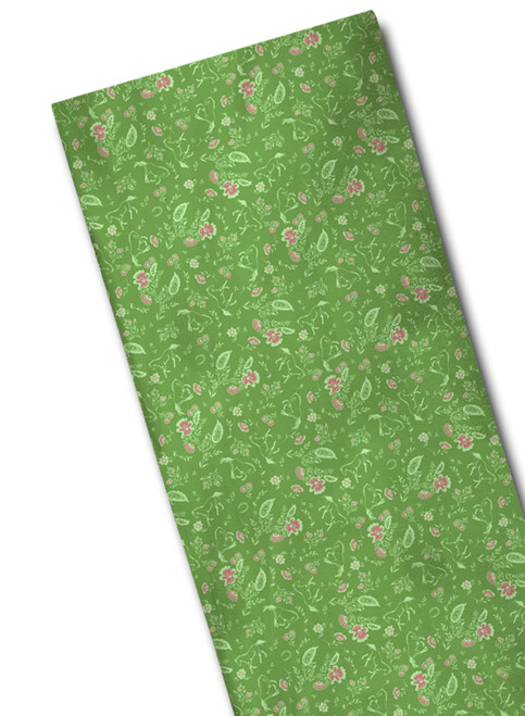 Country Horses Floral Patterned Scarf
