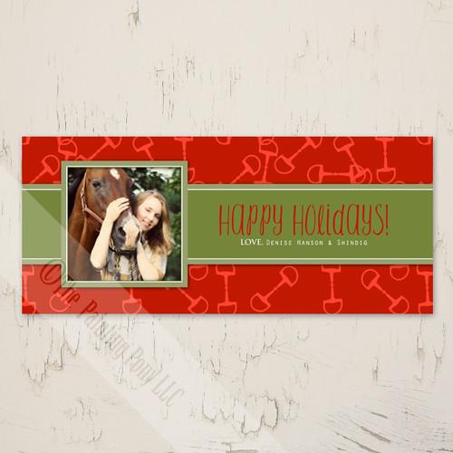 Horse Bits Equestrian Photo Christmas Card