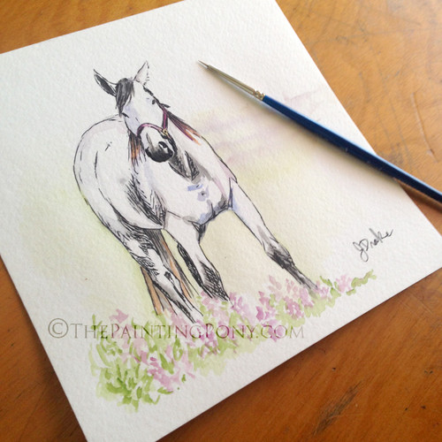 Custom Whimsical Watercolor Painting