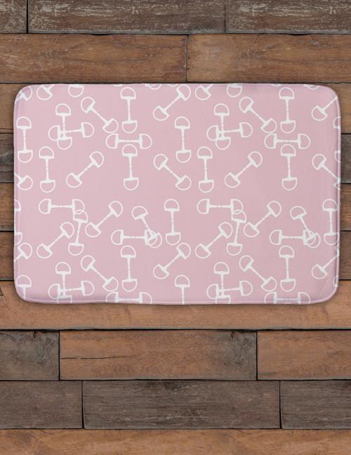 Snaffle Horse Bits Pattern Equestrian Bath Mat