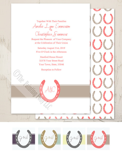 Horse shoe equestrian invitation