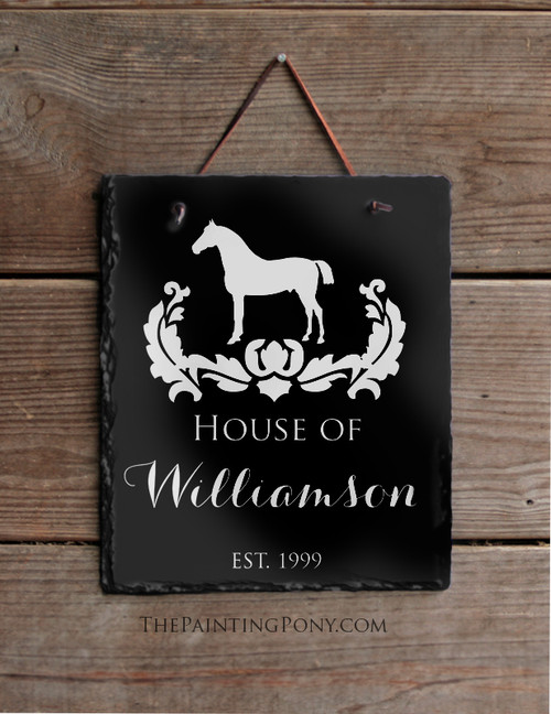 Personalized Equestrian Horse Lover Slate Wall Sign