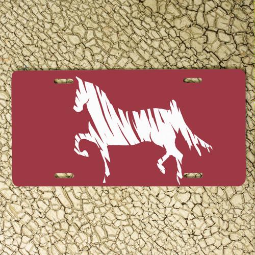 Saddlebred Horse Vanity License Plate