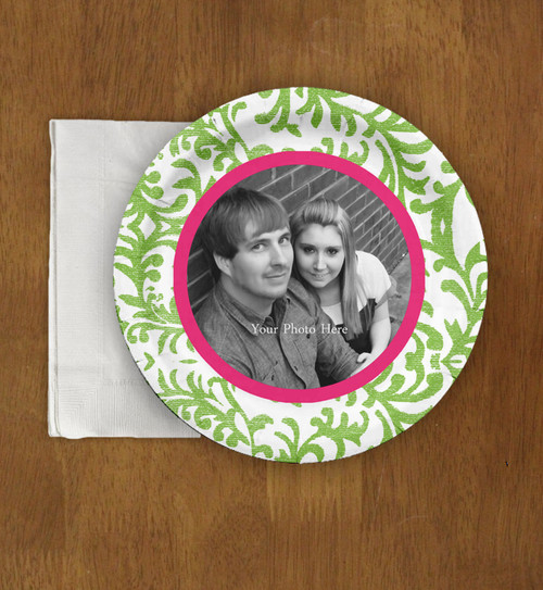 Damask Pattern Wedding Engagement Photo Paper Party Plates (8 pk)  sc 1 st  The Painting Pony & The Bride Shop Weddings - All Wedding Stationery Products - Wedding ...