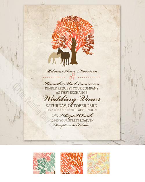 Autumn Horses Wedding Invitation (10 pk)
