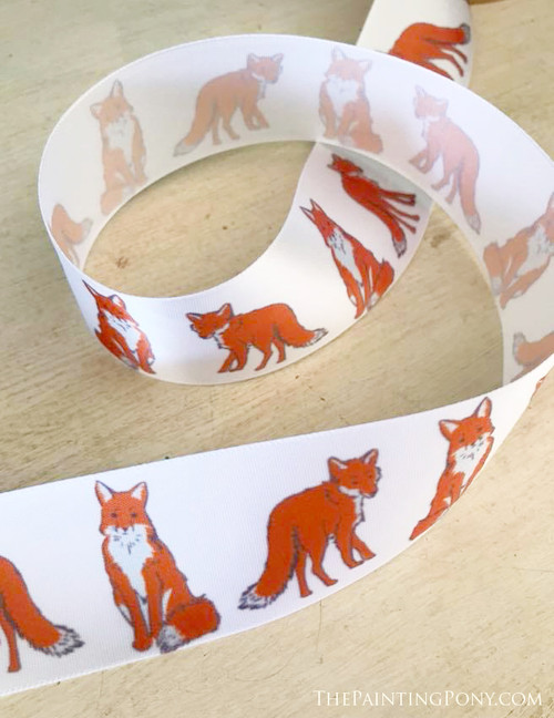 Cute Foxes Equestrian Ribbon